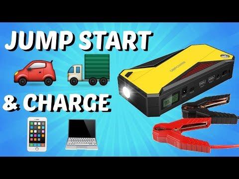 Portable Jump Start & Power Bank (DBPOWER 600A Portable Jump Starter Review)