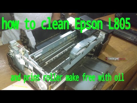 how to clean latest colour printer Epson L805.roller make oil.