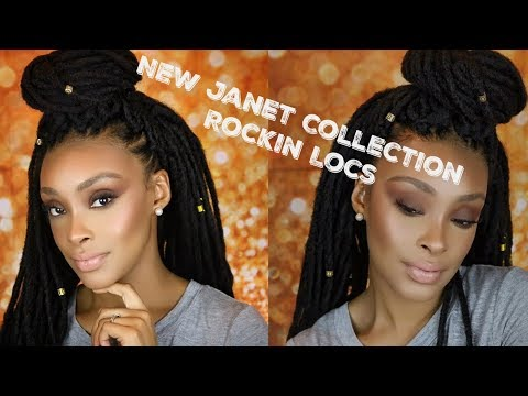 THE MOST NATURAL LOOKING CROCHET FAUX LOCS  | NEW JANET COLLECTION ROCKIN LOCS REVIEW AND TUTORIAL