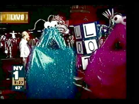 Sesame Street Martians in NYC Halloween Parade