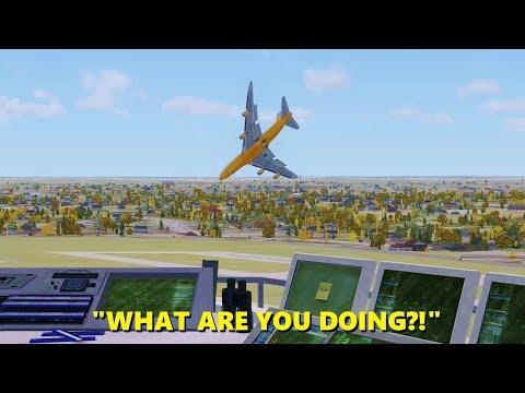 747 Pilot LOSES HIS MIND in Flight Simulator X (Multiplayer ATC)