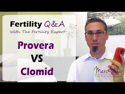 Provera VS Clomid. Fertility Q&A Marc Sklar, The Fertility Expert