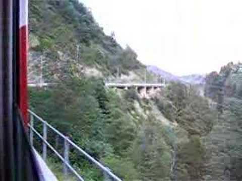 Train from Zermatt to Zurich, Switzerland