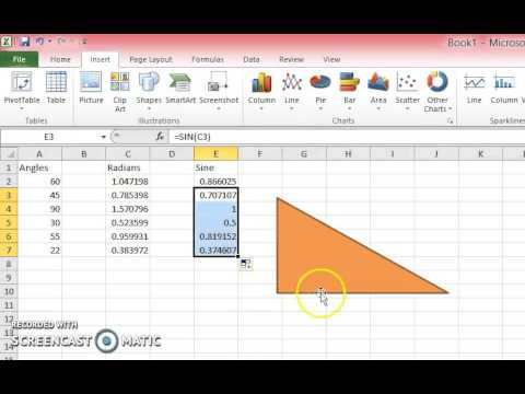 How to Use the SIN Formula in Excel 2010