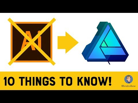 Switching to Affinity Designer from Adobe Illustrator - What to know