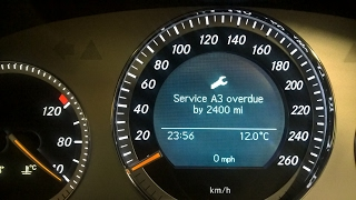 How to reset the service indicator light on a 2012 for Mercedes benz b1 service
