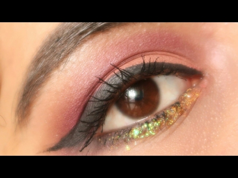 Easy coral glitter makeup look | Naghma Syed