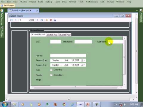 Visual Studio 2010  tutorial Design Data Table in Form