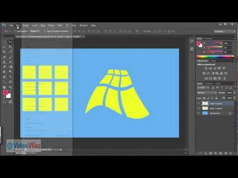 Learn Photoshop CS 6 - 16 - Transformations Skew Distort Perspective Warp (Telugu)