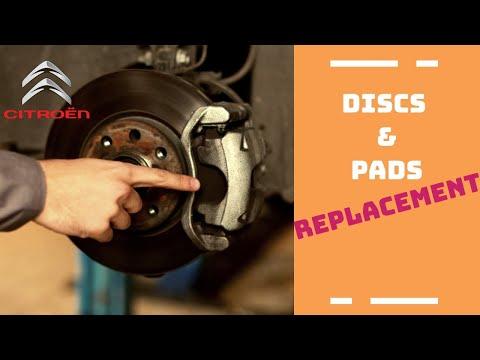 Change of brake pads and discs - Citroen C4, C4 Picasso, C3