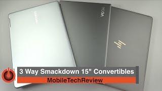 """3 Way Comparison: Samsung Notebook 9 Pro vs. HP Spectre x360 vs. Lenovo Yoga 720 15"""" Convertibles"""