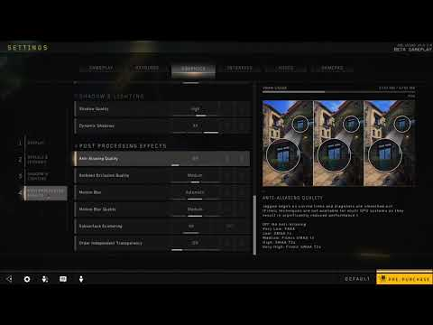 How to Enable Anti Aliasing in Black Ops 4
