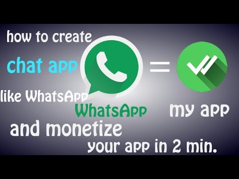 How to create chatting app like WhatsApp || create apps in smart phone || and earn money