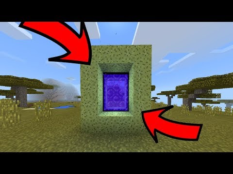 ✔️ How To Make A Portal To The AQUATIC DIMENSION IN MCPE!!