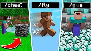 Using CRAZY SECRET Minecraft CHEATS!
