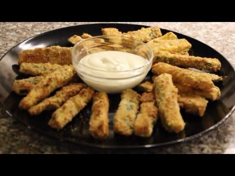 Oven Baked Crispy Zucchini Fries