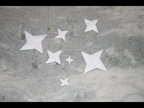 Make a NINJA STAR yourself- PAPER STAR