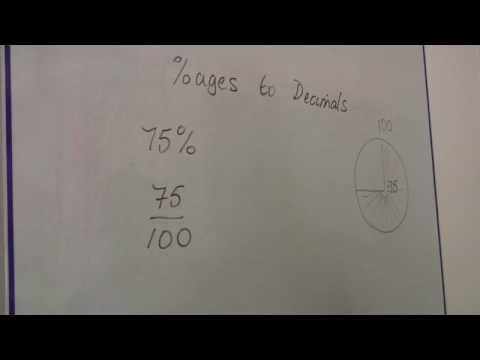 Math Calculations & Conversions : Changing Percentages to Decimals