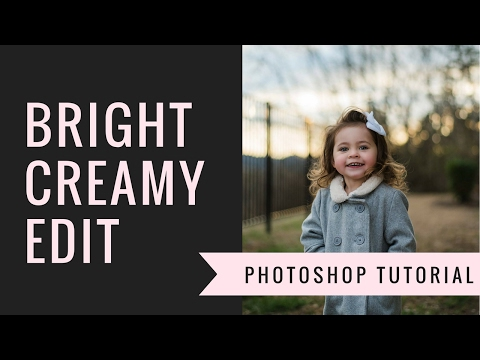 How To Achieve A Bright, Creamy and Clean Portrait Edit In Lightroom and Photoshop.