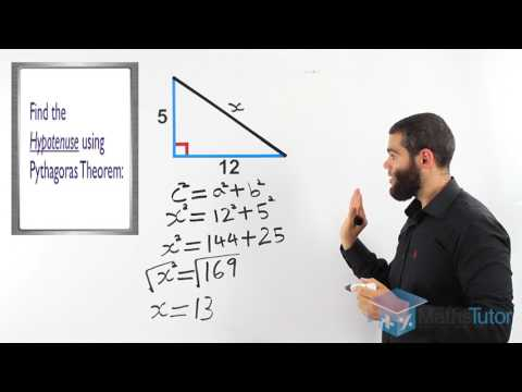 70  Pythagoras Theorem   Finding the Hypotenuse