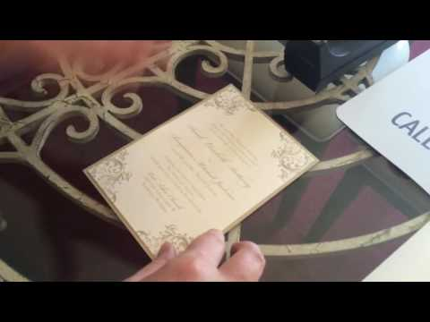 Assembling a Layered Wedding Invitation with a Belly Band