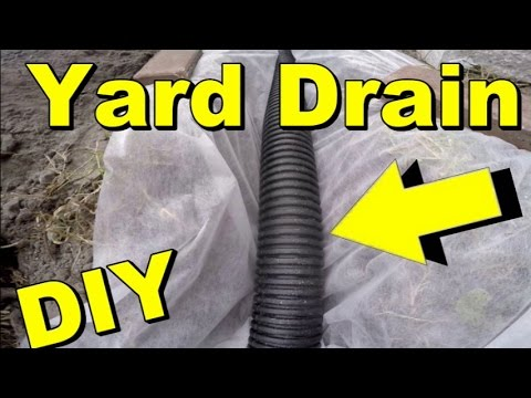 Yard Drain, French Drain, Gravel collects Subsurface water, DIY