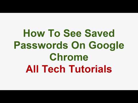 How To See Saved Passwords On Google Chrome