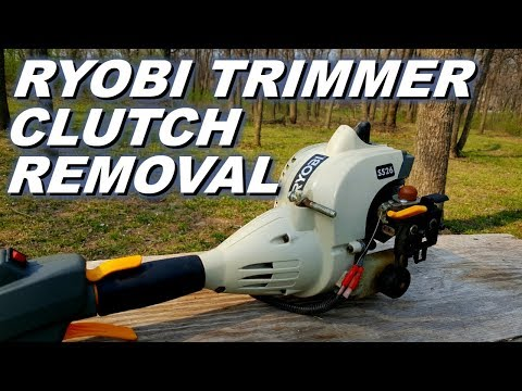 Ryobi trimmer clutch removal.