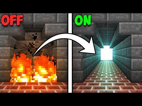 Fully Hidden Fireplace Entrance! - Minecraft Tutorial