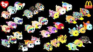 f3461879d9d 2019 McDONALD S TY TEENIE TEENY TYS HAPPY MEAL TOYS HAPPY BIRTHDAY 40 YEARS  PLUSH ANIMALS UNBOXING
