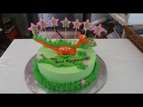 How to make Dinosaur Fondant cake Topper for Cake Decoration : tutorial