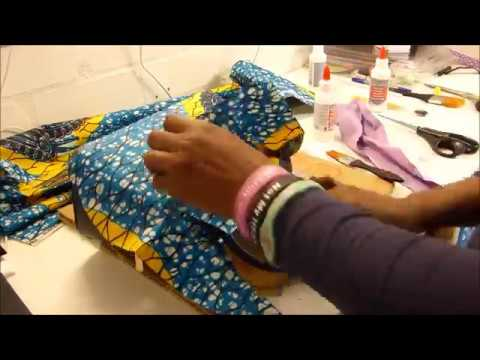 HOW I COVERED THIS BAG WITH ANKARA FABRIC