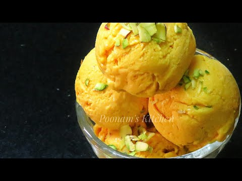 Easy 4 Ingredients Mango Ice Cream Recipe - How to make Mango Ice Cream at home/ Summer Special