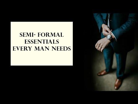 Semi Formal Attire Every Man Should Have