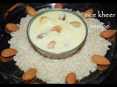 Rice Kheer Recipe /ಅಕ್ಕಿ ಪಾಯಸ / Indian Rice Pudding / Rice Payasa-Vaishnavichannel