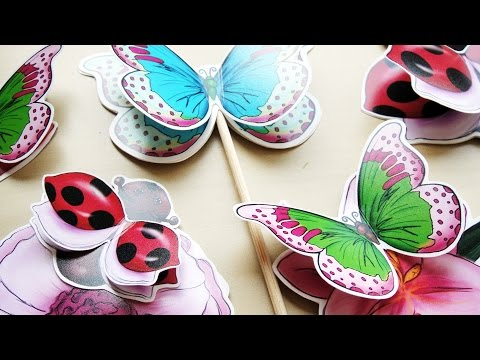 Hattifant - SPRING Cupcake Toppers - TUTORIAL