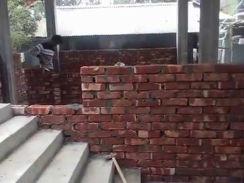 How bricks are laid in Indian construction work