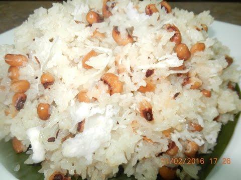 Steamed Sweet Rice with Blacked Eyed Peas Dessert (Bai Crolan)