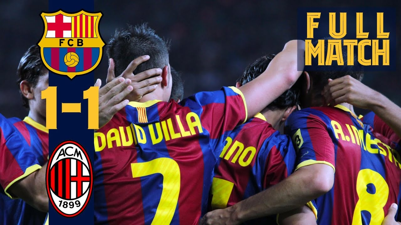 FULL MATCH: Barça - AC Milan (2010) Historic season begins against Italian giants!