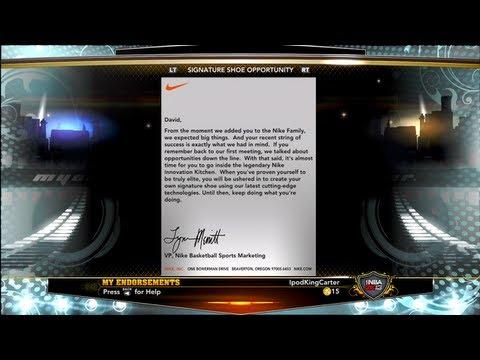 NBA 2K13 MyCAREER - Signature Shoe Opportunity Endorsement Feat. IpodKingCarter PG
