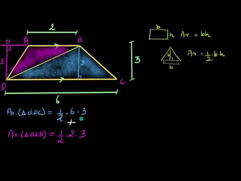 Area of trapezium (Hindi) | Class 8 (India) | Khan Academy
