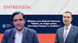 """Ministro Luís Roberto Barroso: """"Ideias, no longo prazo, derrotam tanques e canhões."""""""