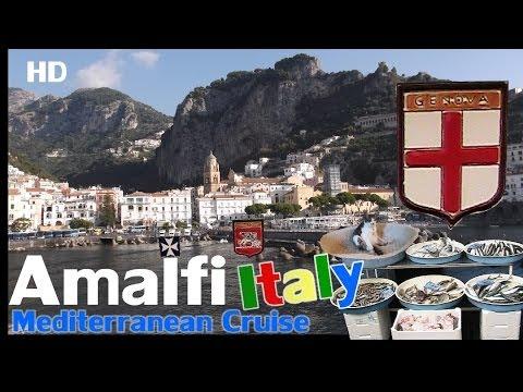 Amalfi Coast Italy - HD  We Visit By Boat To Amalfi Italy
