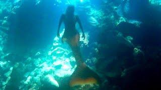 Mermaid Spotted In Secret Underwater Cenote Cave
