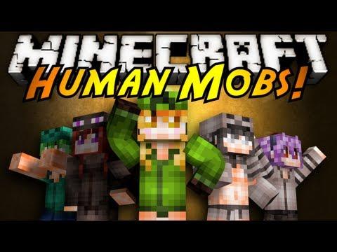 Minecraft Mod Showcase : HUMAN MOBS!