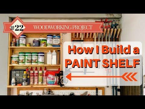 How I Build a Paint Shelf