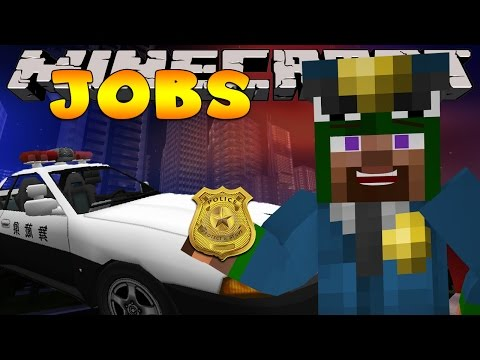 Minecraft Jobs - WORKING AS A POLICE OFFICER! (Custom Roleplay)