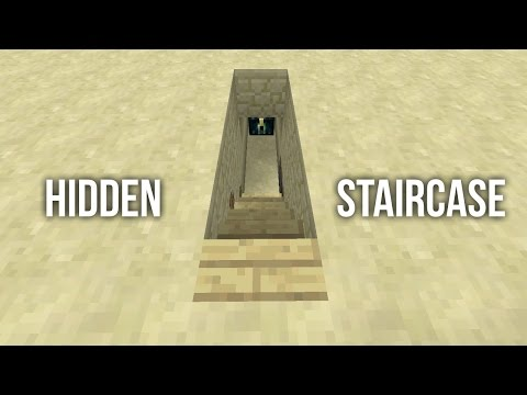 Minecraft Tutorial: Tiny Hidden Staircase