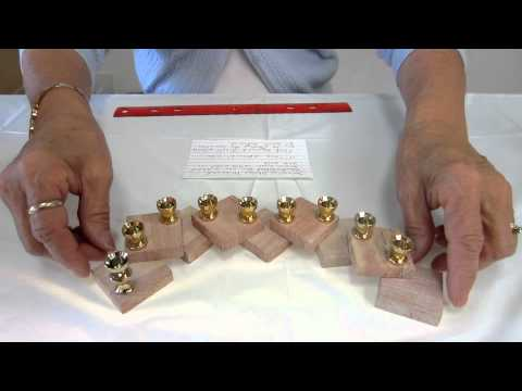 Jerusalem Stone - 24K Gold plated Cups Cube Menorah