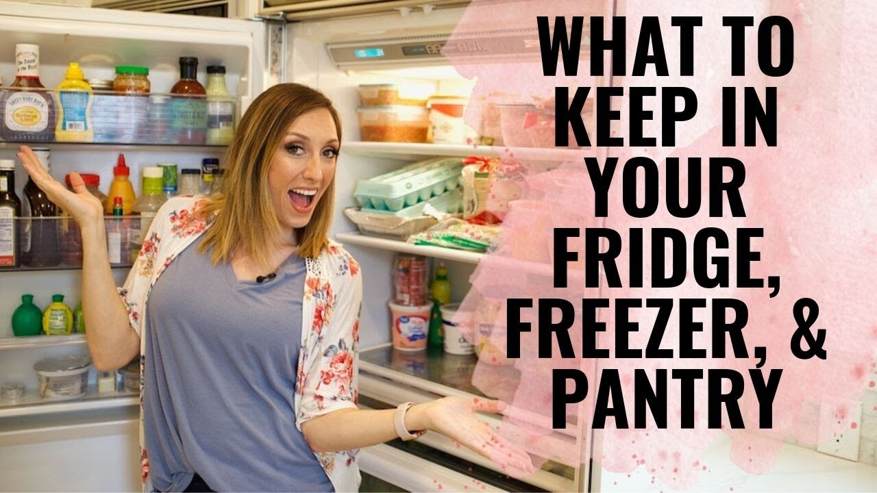 KITCHEN STAPLES! What to keep stocked in your fridge, freezer, & pantry